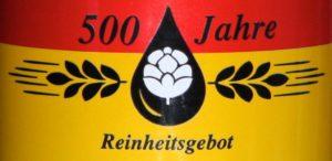 Das welovebier.de- Team zeigt ein Bild, auf dem der Schriftzug 500 Jahre Reinheitsgebot zu sehen ist, welcher mit den Farben rot und gelb hinterlegt ist. Zwischen dem Schriftzug sind Hopfen, Wasser und Gerste symbolisch dargestellt. Das Reinheitsgebot feierte erst im April 2016 das 500 jährige Jubiläum.