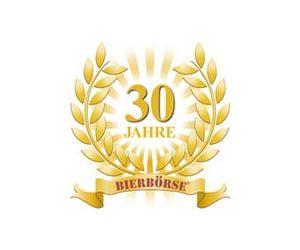 Auf dem Bild ist das Logo der Bierbörse mit dem Schriftzug 30 Jahre zu sehen.