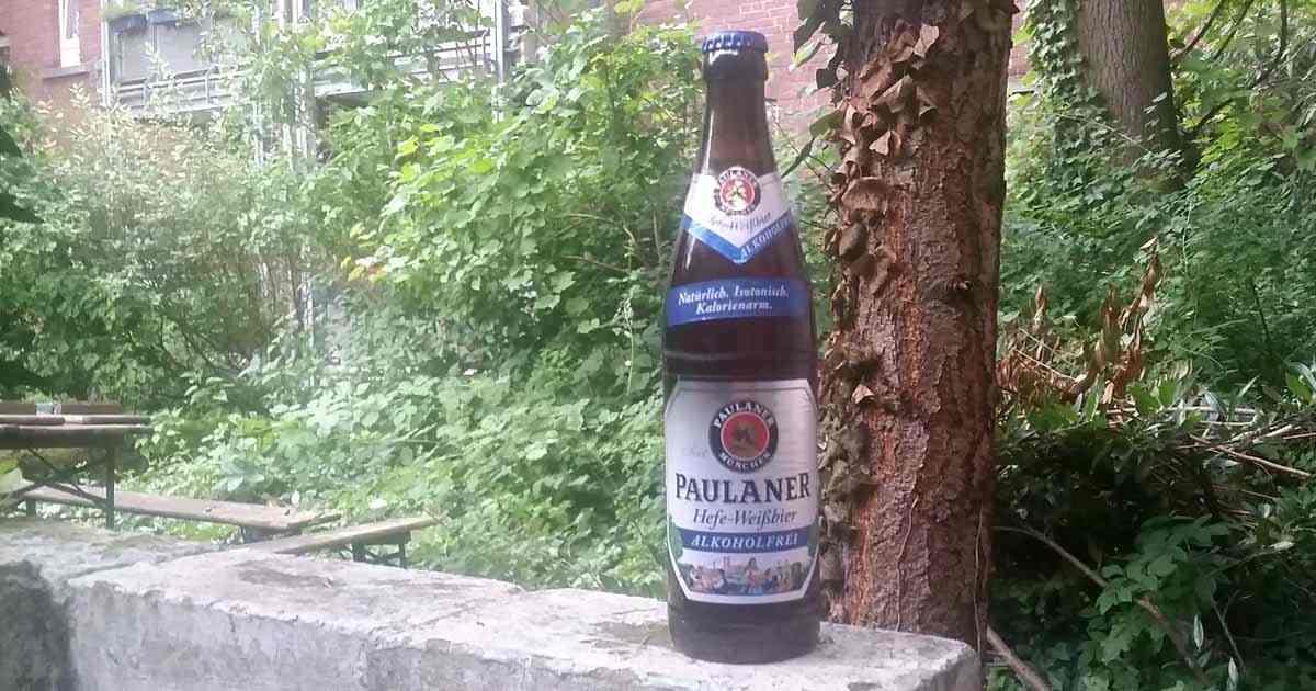 Das Bild zeigt ein alkoholfreies Bier der Marke Paulaner.